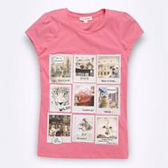 Girl's pink photo t-shirt