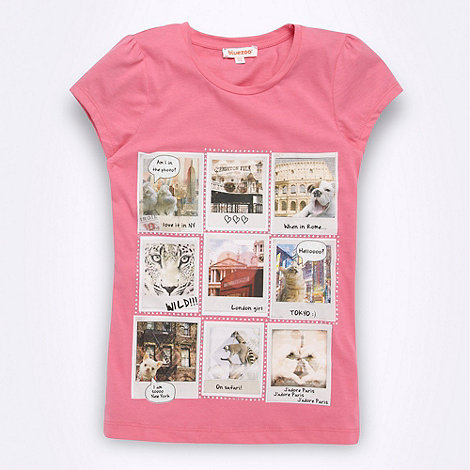 bluezoo - Girl+s pink photo t-shirt