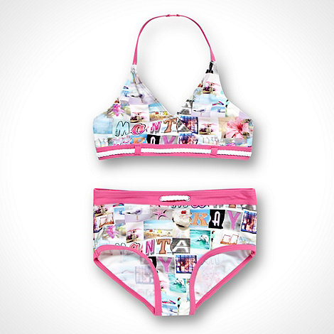 Mantaray - Girl+s pink photo print bikini