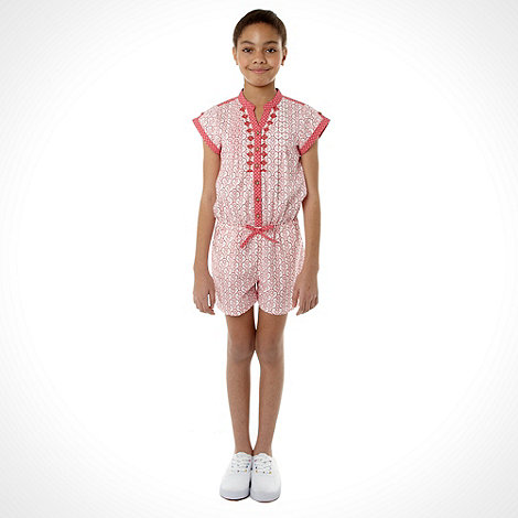 Mantaray - Girl+s pink woven top and shorts