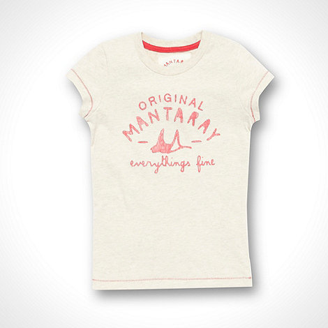 Mantaray - Children+s cream printed t-shirt