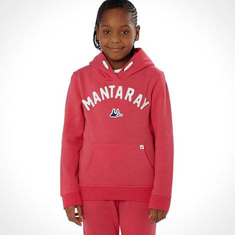 Mantaray - Girl+s red branded sweat hoodie