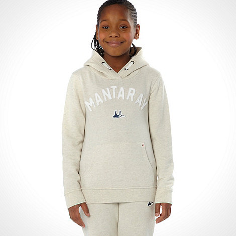 Mantaray - Girl+s cream branded sweat hoodie