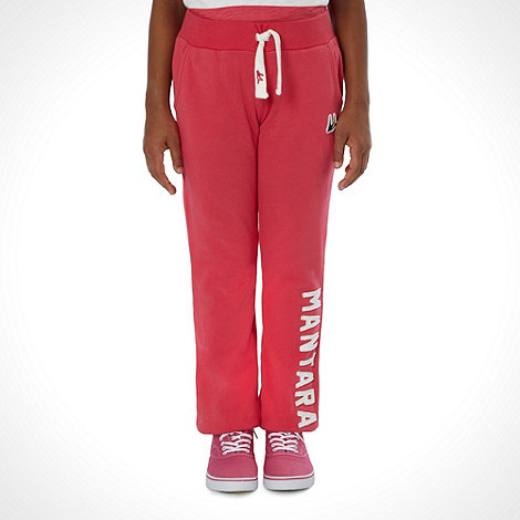 Mantaray - Girl+s red cuffed branded joggers