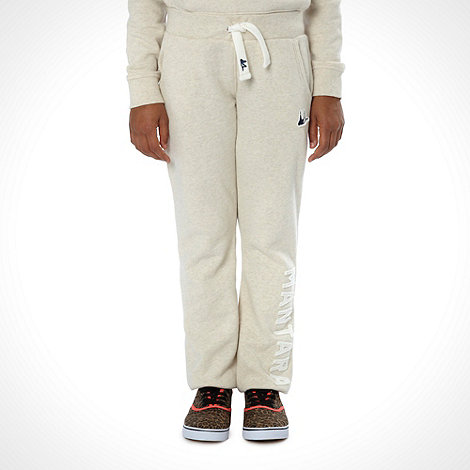 Mantaray - Girl+s cream cuffed branded joggers