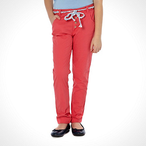 Mantaray - Girl+s red belted chino trousers