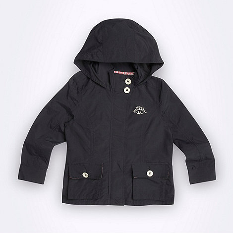 Mantaray - Girl+s navy lightweight hooded jacket