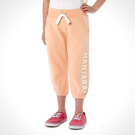 Mantaray - Girl+s orange cropped logo jogging bottoms