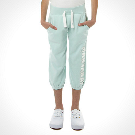 Mantaray - Girl+s light green cropped logo jogging bottoms