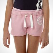 Girl's pale pink logo sweat shorts