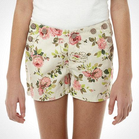 Mantaray - Girl+s cream floral shorts