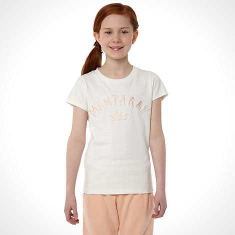 Mantaray - Girl+s white logo t-shirt