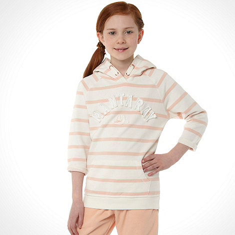 Mantaray - Girl+s peach striped hoodie
