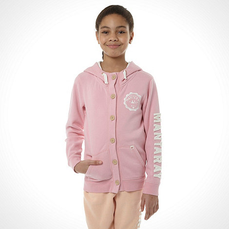 Mantaray - Girl+s pink button through hoodie