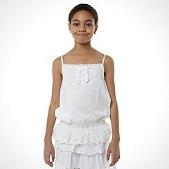 Mantaray - Girl's white woven vest