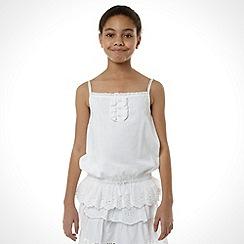 Mantaray - Girl's white woven vest