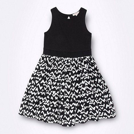 bluezoo - Girl's black aztec skirt dress