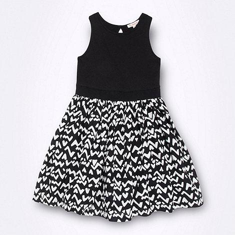 bluezoo - Girl+s black aztec skirt dress