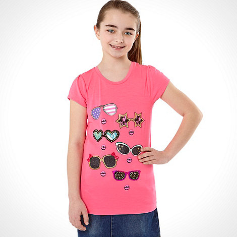 bluezoo - Girl+s pink sunglasses t-shirt
