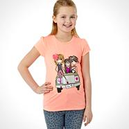 Girl's coral safari car top