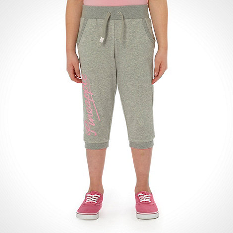 Pineapple - Girl+s grey cropped joggers