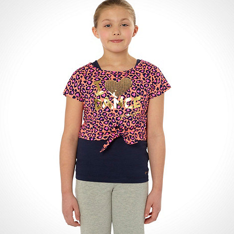 Pineapple - Girl+s navy two in one animal top