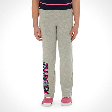 Pineapple - Girl+s grey sequinned logo jogging bottoms