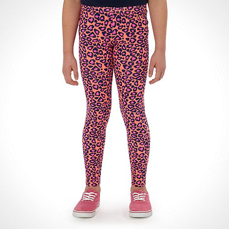 Pineapple - Girl+s pink animal leggings