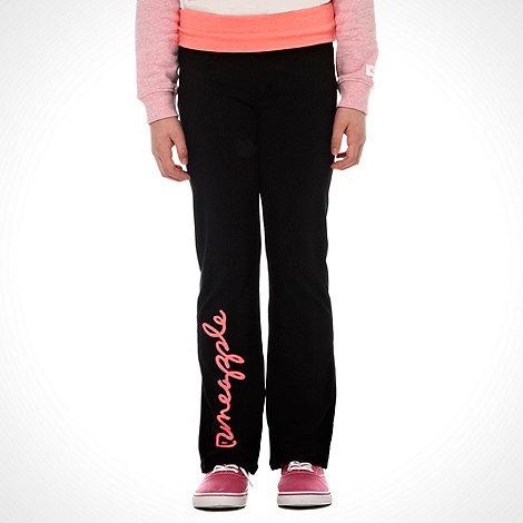 Pineapple - Girl+s black logo jogging bottoms