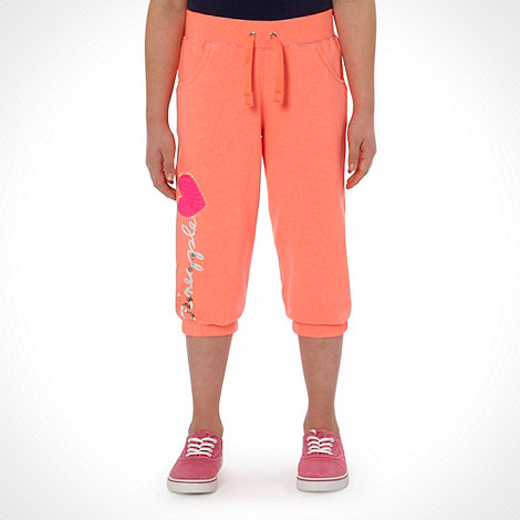 Pineapple - Girl+s coral cropped jogging bottoms