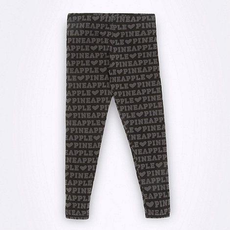 Pineapple - Pineapple girl+s black branded leggings