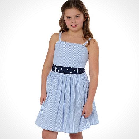 J by Jasper Conran - Designer girl+s blue striped dress