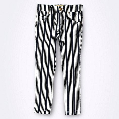 J by Jasper Conran - Designer girl+s navy striped jeans