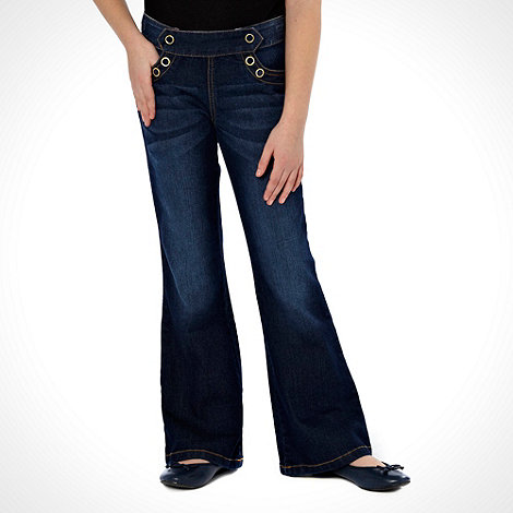 J by Jasper Conran - Designer girls+ blue washed kick flared jeans