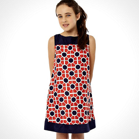 J by Jasper Conran - Designer girl+s navy geo print dress