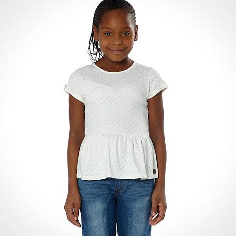 J by Jasper Conran - Designer girl+s white spotted peplum top