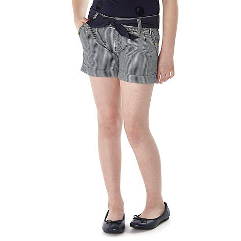 J by Jasper Conran - Designer girl+s navy striped shorts
