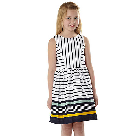 J by Jasper Conran - Designer girl+s navy striped dress