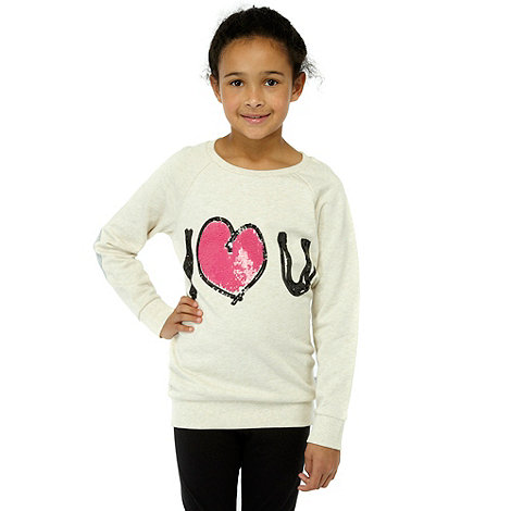 Donna & Markus by Markus Lupfer - Designer girl+s cream +i love u+ sweatshirt