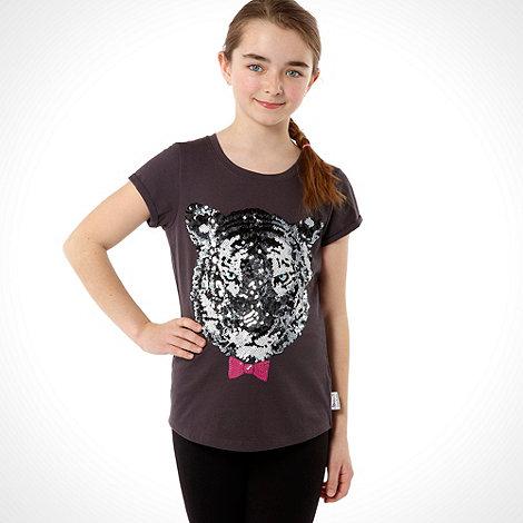 Donna & Markus by Markus Lupfer - Designer girl+s grey tiger t-shirt