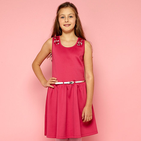 Butterfly by Matthew Williamson - Designer girl+s pink scuba dress