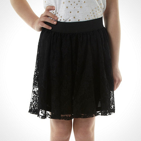Butterfly by Matthew Williamson - Girl's black embroidered lace skirt