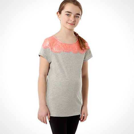 Butterfly by Matthew Williamson - Designer girl+s grey neon lace top