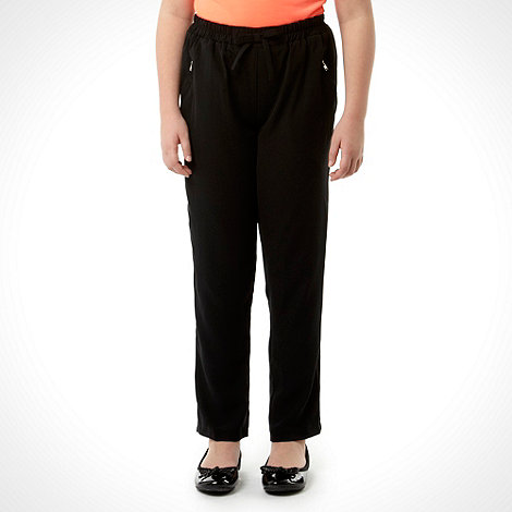 Butterfly by Matthew Williamson - Designer girl+s black zip pocket trousers