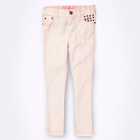 Star by Julien Macdonald - Designer girl+s light pink tie dye jeans