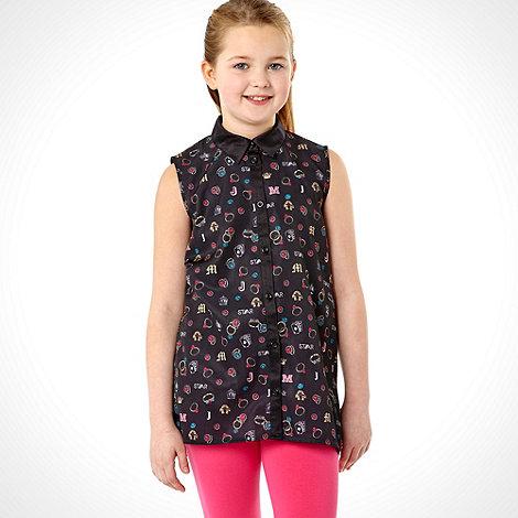 Star by Julien Macdonald - Designer girl+s black ring shirt and leggings set
