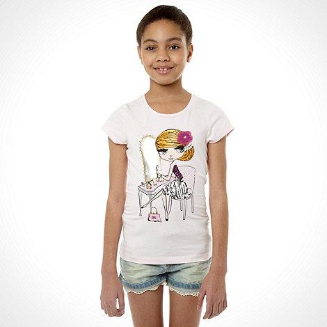 Star by Julien Macdonald - Designer girl+s white dressing table t-shirt
