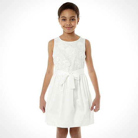 RJR.John Rocha - Designer girl+s white floral dress