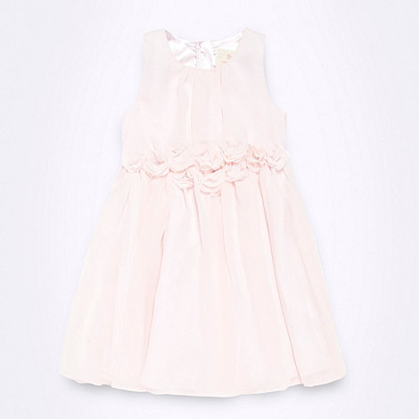 RJR.John Rocha - Designer girl+s pink flower corsage dress