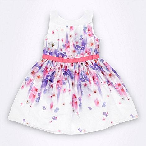 RJR.John Rocha - Designer girl+s white graphic floral dress